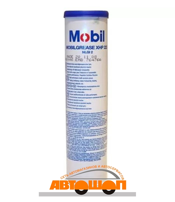 Mobil Mobilgrease XHP 222 (NLGI-2/ISO VG220), 0.39 кг Смазка пластичная; 153553
